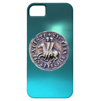 SEAL OF THE KNIGHTS TEMPLAR blue iPhone 5 Covers