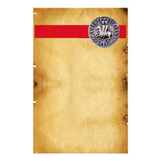SEAL OF THE KNIGHTS TEMPLAR, Brown Parchment Stationery