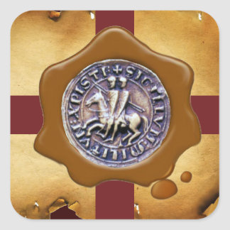 SEAL OF THE KNIGHTS TEMPLAR,  Brown Wax ,Parchment