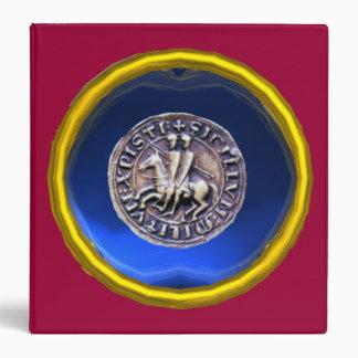 SEAL OF THE KNIGHTS TEMPLAR gem blue red Vinyl Binder