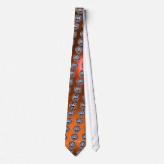 SEAL OF THE KNIGHTS TEMPLAR gem orange Tie