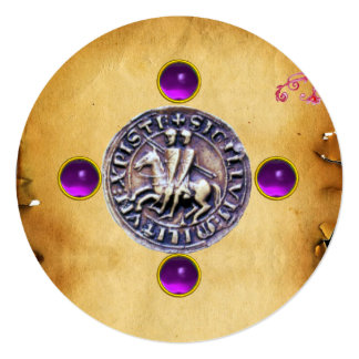 SEAL OF THE KNIGHTS TEMPLAR  gem purple Card