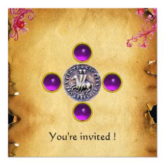 SEAL OF THE KNIGHTS TEMPLAR  gem purple Custom Announcements