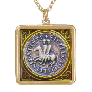 SEAL OF THE KNIGHTS TEMPLAR GOLD PLATED NECKLACE