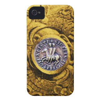 SEAL OF THE KNIGHTS TEMPLAR gold yellow iPhone 4 Cover