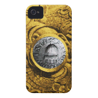 SEAL OF THE KNIGHTS TEMPLAR gold yellow iPhone 4 Case