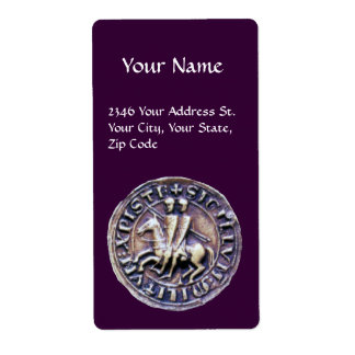SEAL OF THE KNIGHTS TEMPLAR CUSTOM SHIPPING LABELS