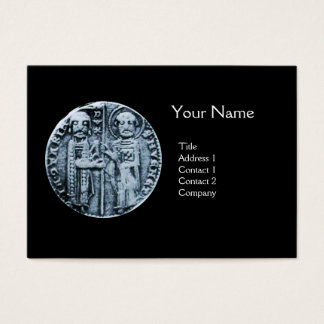 SEAL OF THE KNIGHTS TEMPLAR MONOGRAM BUSINESS CARD