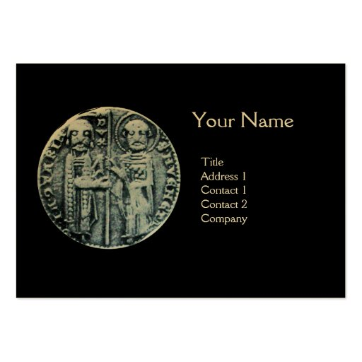 SEAL OF THE KNIGHTS TEMPLAR MONOGRAM gold Large Business Cards (Pack Of 100)