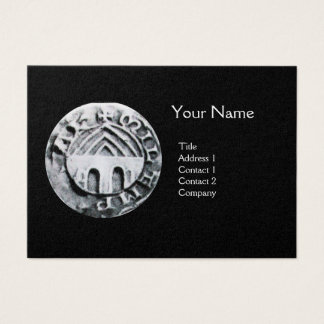 SEAL OF THE KNIGHTS TEMPLAR MONOGRAM gold Business Card