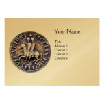 SEAL OF THE KNIGHTS TEMPLAR MONOGRAM gold Business Card Templates