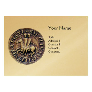 SEAL OF THE KNIGHTS TEMPLAR MONOGRAM gold Large Business Card