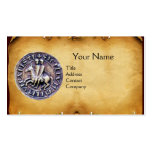 SEAL OF THE KNIGHTS TEMPLAR MONOGRAM parchment Business Card Templates