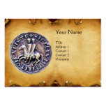 SEAL OF THE KNIGHTS TEMPLAR MONOGRAM parchment Large Business Card