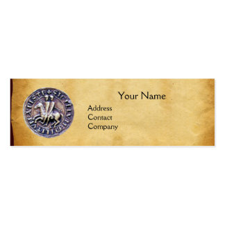 SEAL OF THE KNIGHTS TEMPLAR MONOGRAM parchment Mini Business Card