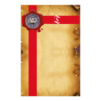 SEAL OF THE KNIGHTS TEMPLAR, Monogram  Parchment Stationery