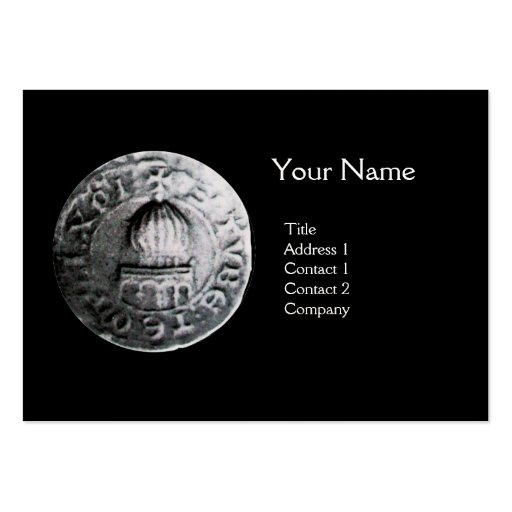 SEAL OF THE KNIGHTS TEMPLAR MONOGRAM Pearl Large Business Card