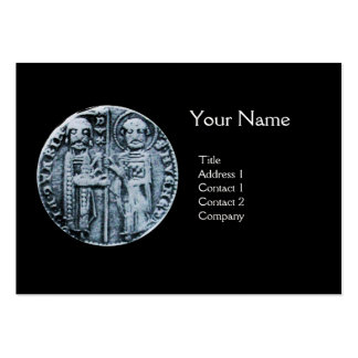 SEAL OF THE KNIGHTS TEMPLAR MONOGRAM Pearl Paper Large Business Cards (Pack Of 100)