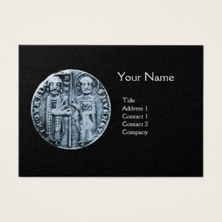 SEAL OF THE KNIGHTS TEMPLAR MONOGRAM Pearl Paper Business Card
