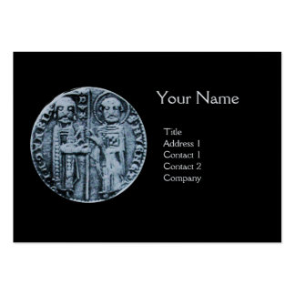 SEAL OF THE KNIGHTS TEMPLAR MONOGRAM Platinum Large Business Cards (Pack Of 100)