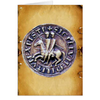 SEAL OF THE KNIGHTS TEMPLAR parchment Cards