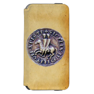 SEAL OF THE KNIGHTS TEMPLAR parchment MONOGRAM iPhone 6/6s Wallet Case
