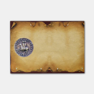 SEAL OF THE KNIGHTS TEMPLAR parchment Post-it® Notes