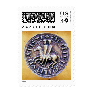 SEAL OF THE KNIGHTS TEMPLAR parchment Postage Stamps