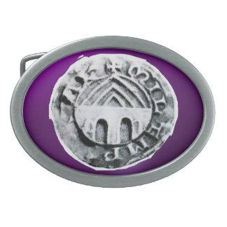 SEAL OF THE KNIGHTS TEMPLAR purple Belt Buckle