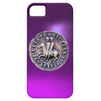 SEAL OF THE KNIGHTS TEMPLAR purple iPhone 5 Cover