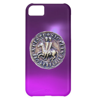 SEAL OF THE KNIGHTS TEMPLAR purple Case For iPhone 5C