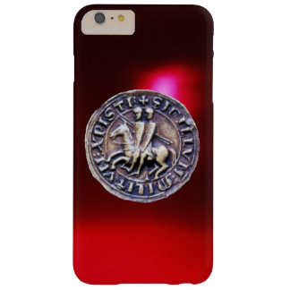 SEAL OF THE KNIGHTS TEMPLAR red burgundy Barely There iPhone 6 Plus Case