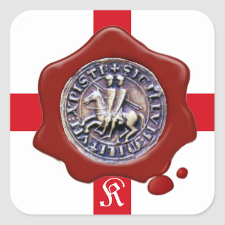 SEAL OF THE KNIGHTS TEMPLAR,  Red Wax Monogram