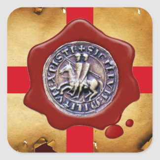 SEAL OF THE KNIGHTS TEMPLAR,  Red Wax ,Parchment
