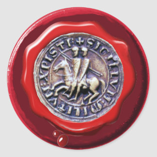 SEAL OF THE KNIGHTS TEMPLAR RED WAX SEAL