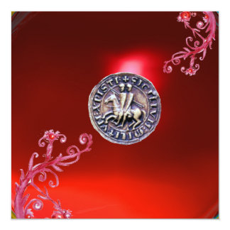 SEAL OF THE KNIGHTS TEMPLAR ruby red Card