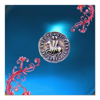 SEAL OF THE KNIGHTS TEMPLAR sapphire blue Invitation