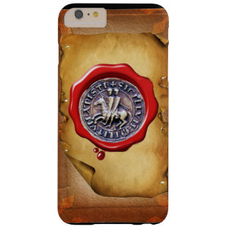 SEAL OF THE KNIGHTS TEMPLAR wax parchment Barely There iPhone 6 Plus Case
