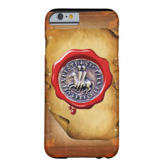 SEAL OF THE KNIGHTS TEMPLAR wax parchment Barely There iPhone 6 Case