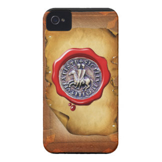SEAL OF THE KNIGHTS TEMPLAR wax parchment iPhone 4 Cases
