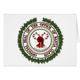 Seal of the Office of Santa Claus - Blank Card