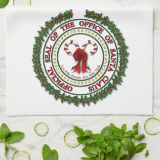 Seal of the Office of Santa Claus Kitchen Towels