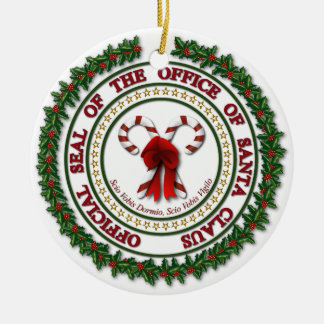 Seal of the Office of Santa Claus Ornament