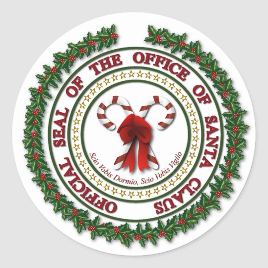Seal Of The Office Of Santa Claus Stickers Zazzle Com