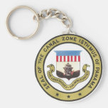 SEAL OF THE PANAMA CANAL ZONE BASIC ROUND BUTTON KEYCHAIN