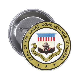 SEAL OF THE PANAMA CANAL ZONE BUTTON