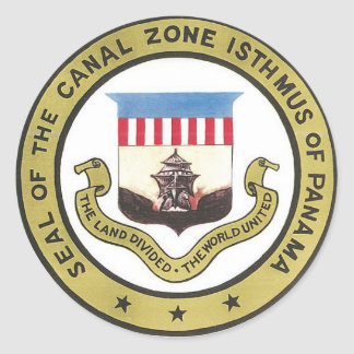 SEAL OF THE PANAMA CANAL ZONE CLASSIC ROUND STICKER