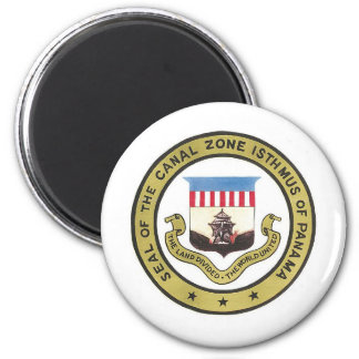 SEAL OF THE PANAMA CANAL ZONE 2 INCH ROUND MAGNET