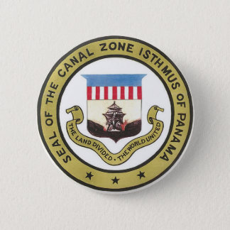 SEAL OF THE PANAMA CANAL ZONE PINBACK BUTTON
