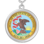 Seal of the State of Illinois Personalized Necklace